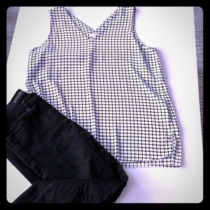 Black // White Blouse